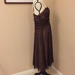BCBGMaxAzria Dresses - 💰FINAL PRICE BCBGMaxAzria brown sequined dress, L